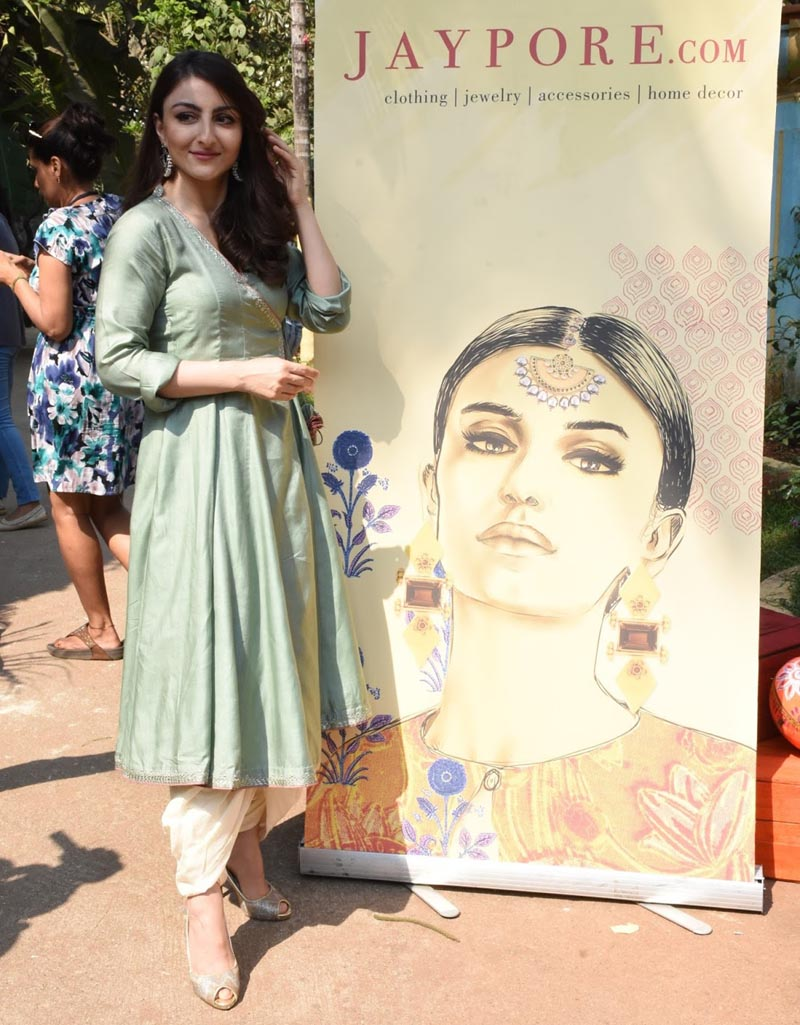 Actress Soha Ali Khan at Jaypore Open House in Mumbai
