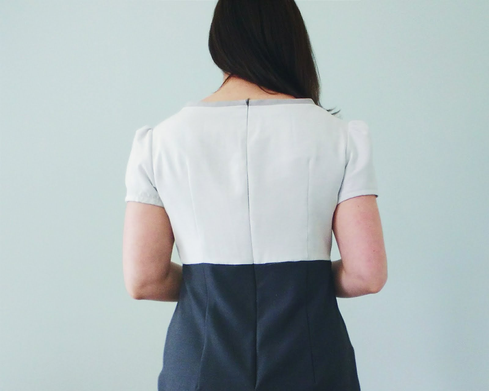 Lined Colour blocked Megan Dress from Tilly and the Buttons back view