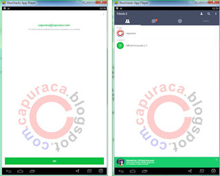 Line di PC dengan bantuan Bluestacks