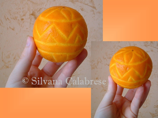 Carvings. Decorated citrus (orange)