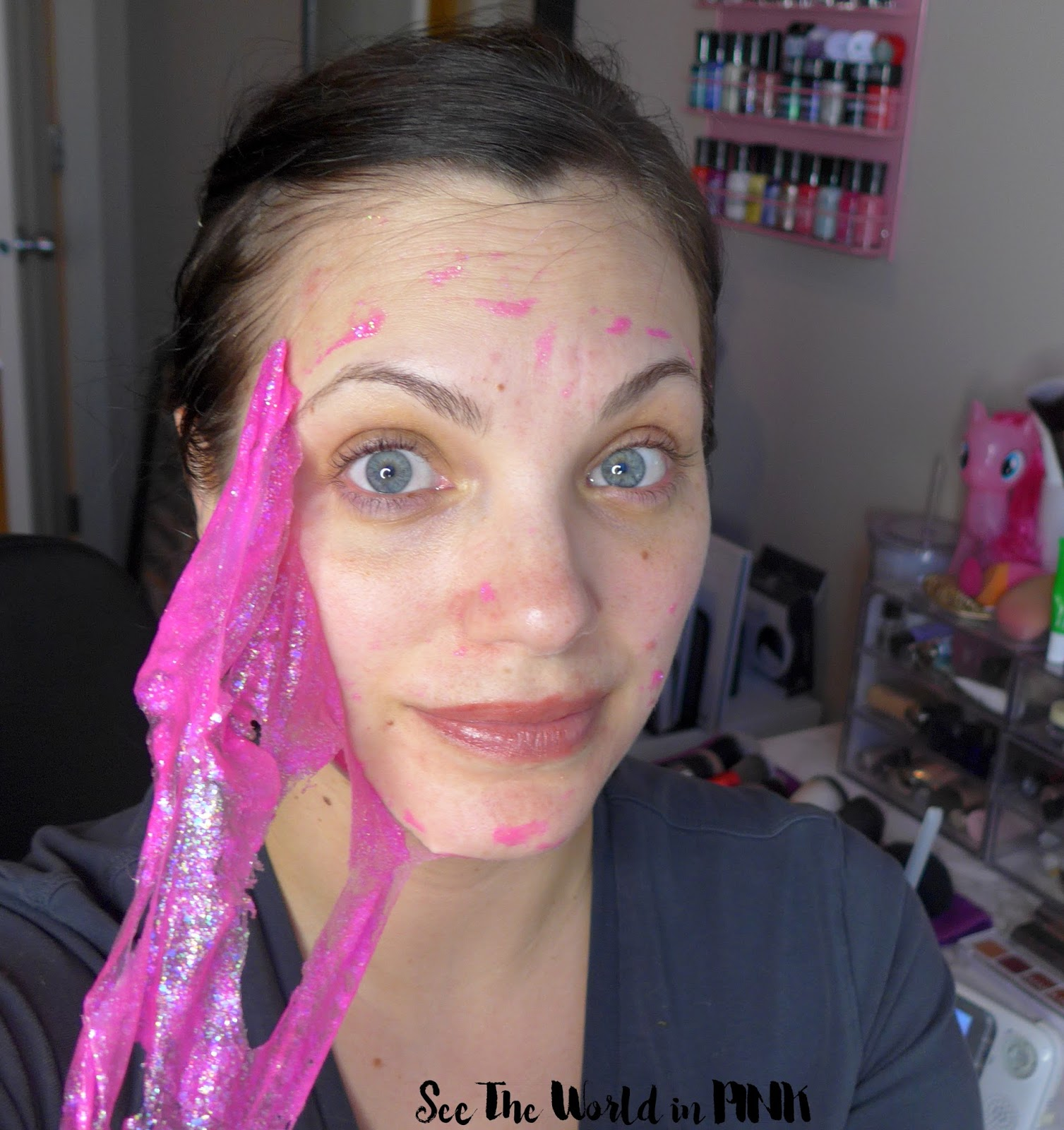 Mask Wednesday - Glamglow x My Little Pony #GlitterMask Pink Glitter GravityMud Firming Treatment
