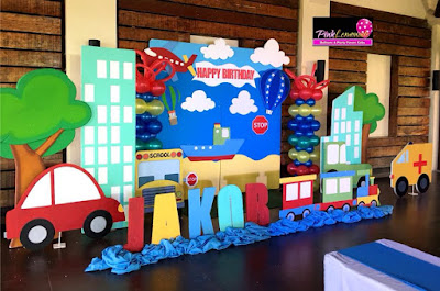 Transportation themed Stage Decor