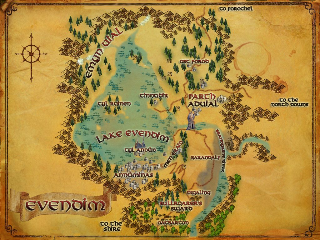 Wonderful Places In Lotros Middle Earth Atlas Of Evendim