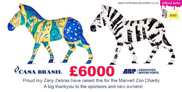 martin davey £6000 zany Zebras street art