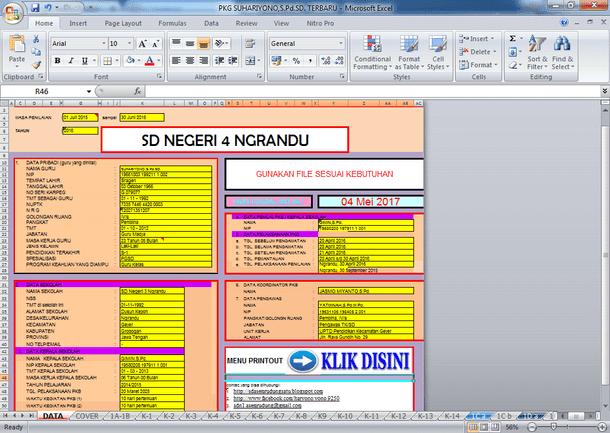 Contoh Aplikasi PKG Format Microsoft Excel