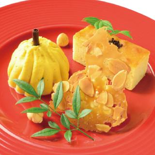 パンプキンミルクアイスと 焼き芋バターケーキ(2017年秋)