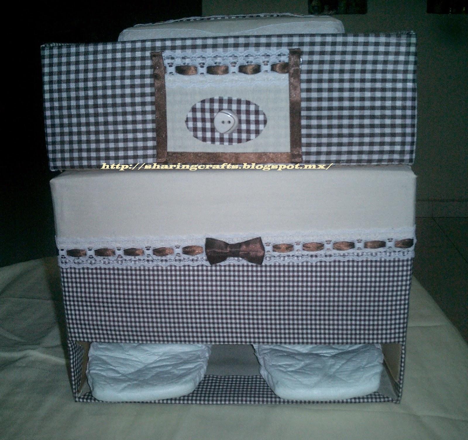 Ah como hacer manualidades sencillas paso a paso - Cajas de carton decoradas para bebes ...