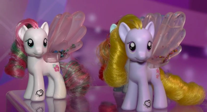 Blossomforth, Lily Blossom and Rainbow Dash Water Cuties Brushables
