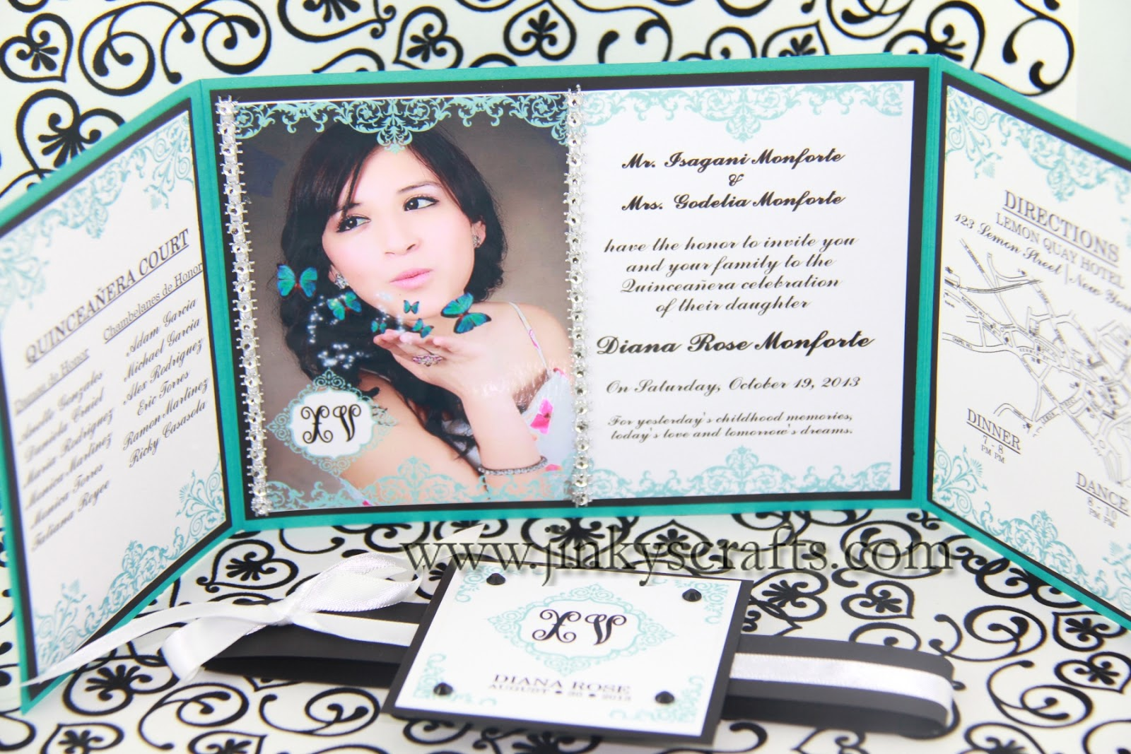 wedding picture caricature anniversary ideas - Jinky s Crafts & Designs Gate Fold Custom Invitations