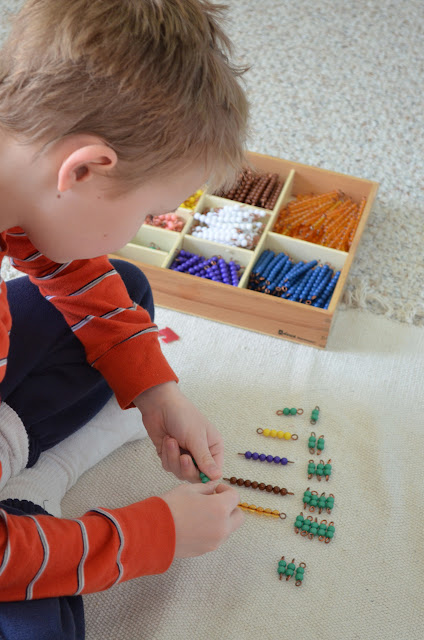 Montessori Multiplication Bead Bars:  Table of Twos