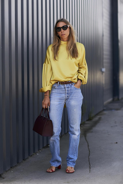Mustard Yellow Silk Blouse