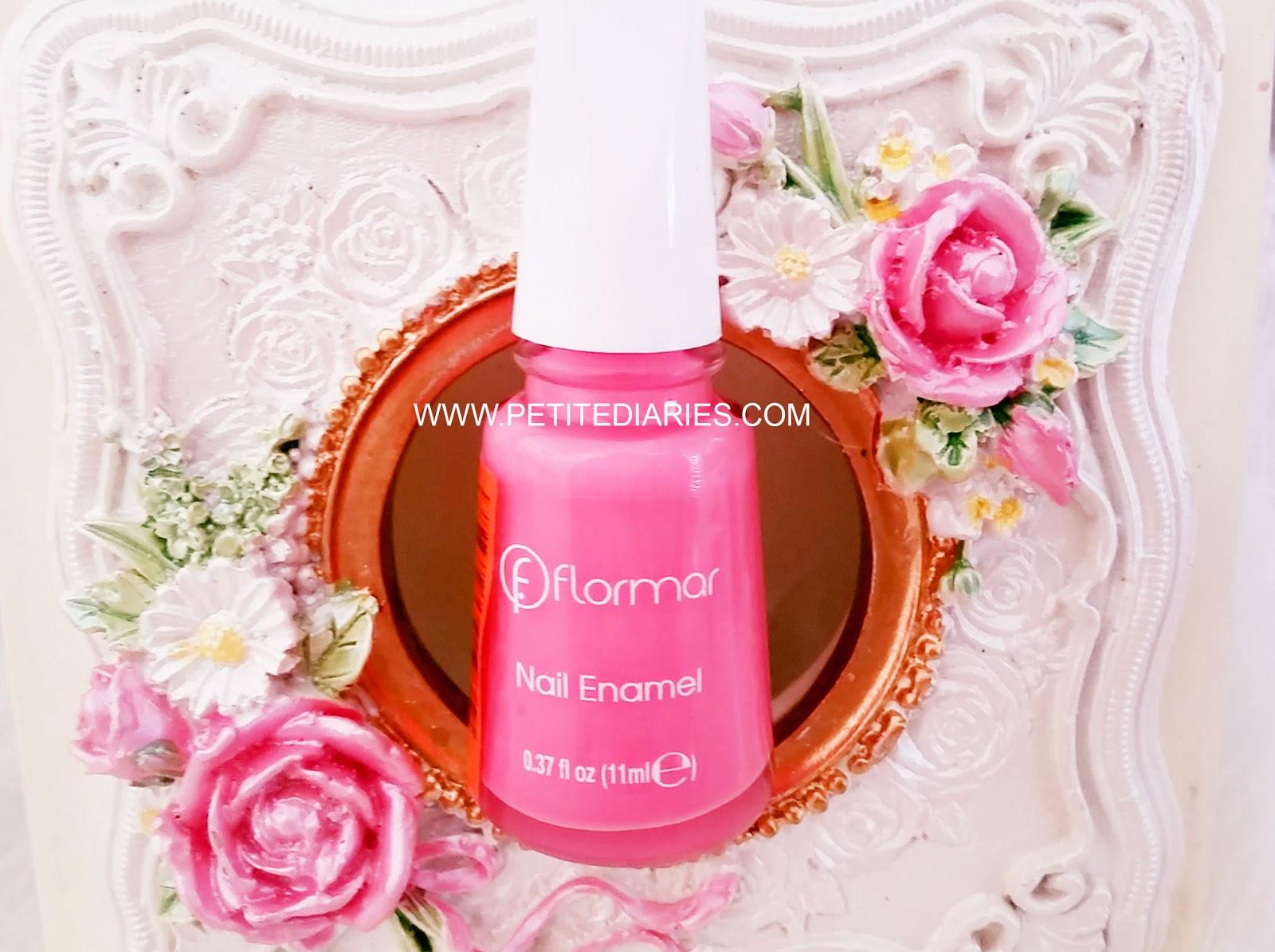 flormor nail polish enamel in pink