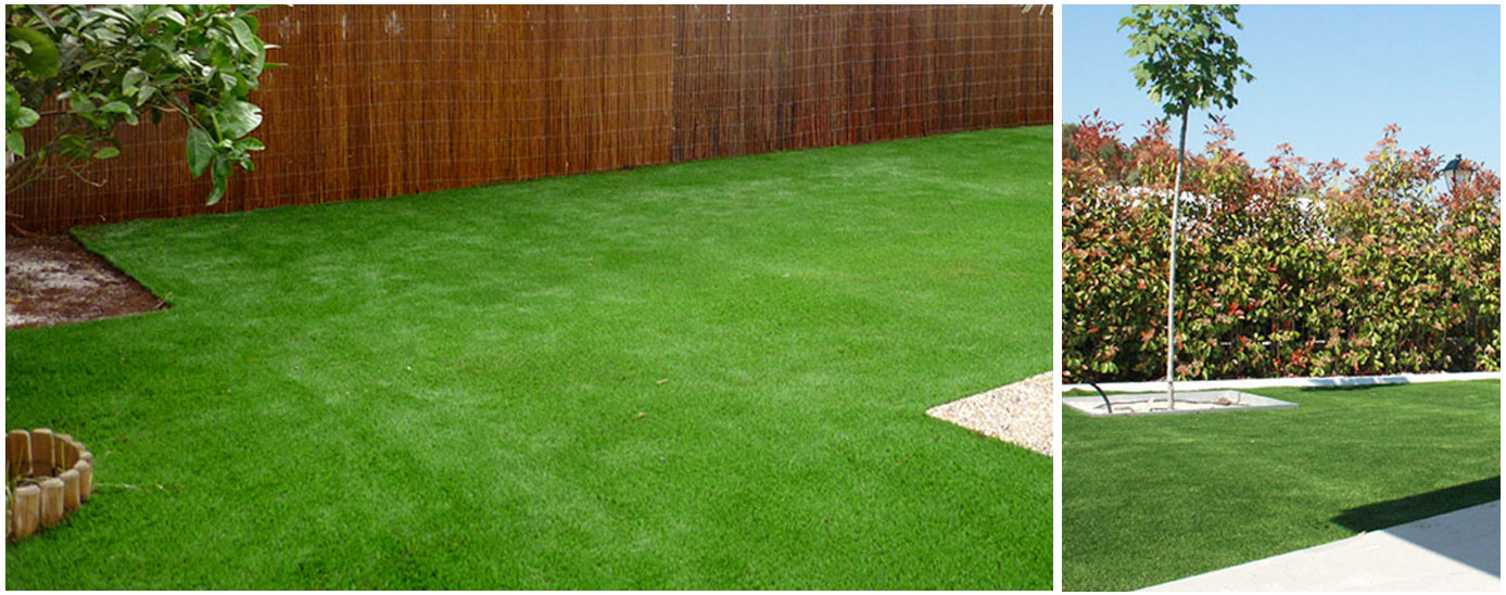 Jardines con c sped artificial recursos interior - Cesped artificial en valencia ...