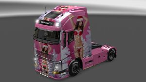 Beautiful Girl paint job for Volvo 2013