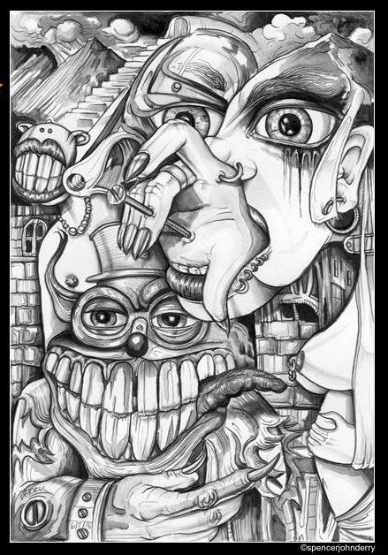 tooth ache by spencer john derry art