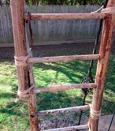 How to Turn a Broken Chair into a Ladder