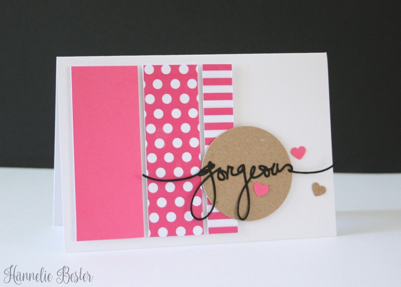 Gorgeous polka dot inspired card