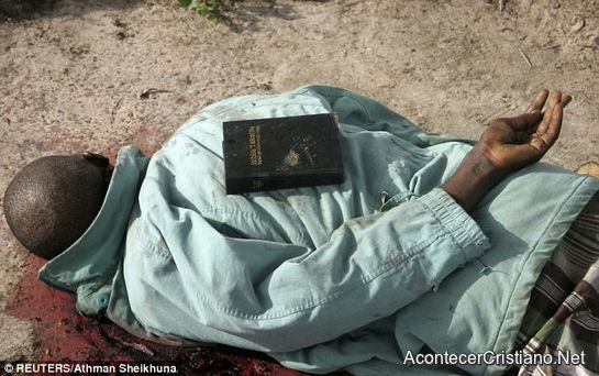 Cristiano asesinado con Biblia sobre su cuerpo