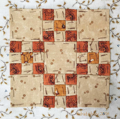 Dear Jane Quilt - Block J7 Chicken Tracks