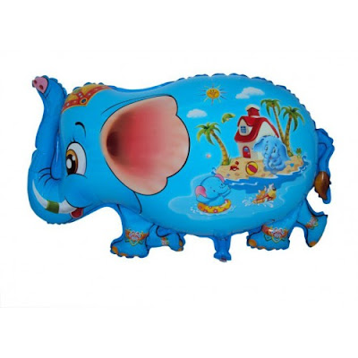 Balon Foil Karakter Gajah Biru