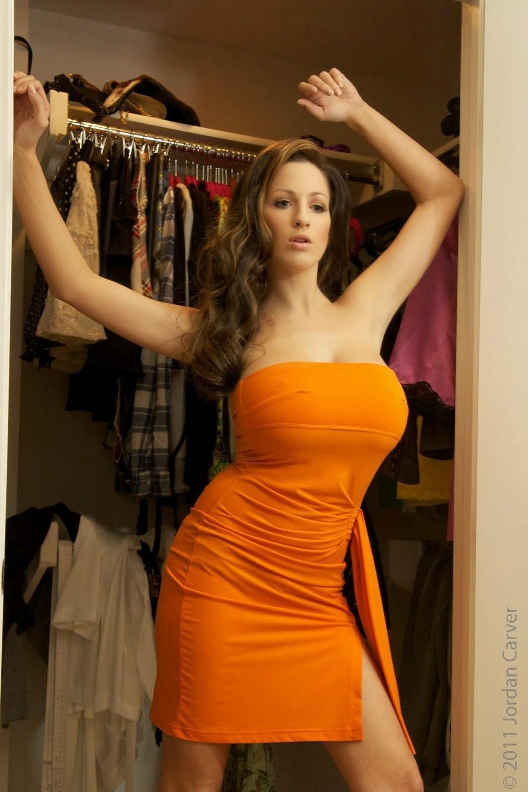 Jordan Carver Big Boobs show in Wardrobe picking Costumes