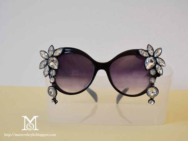 bejewelled sunglasses, sunglasses diy, diy, fashion diy, my diy, diva sunglasses,