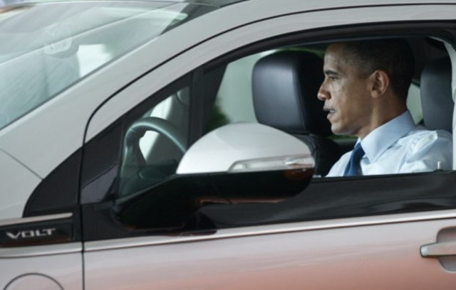 Watch: Six Years Ago Obama Promised to Buy a Chevy Volt. Now It Is Dead