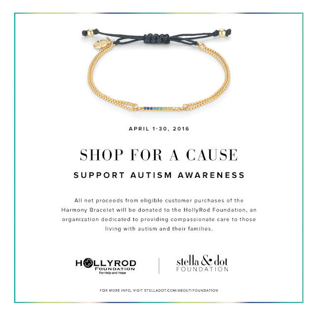 Stella & Dot Harmony Bracelet benefiting the HollyRod Foundation for Autism Awareness
