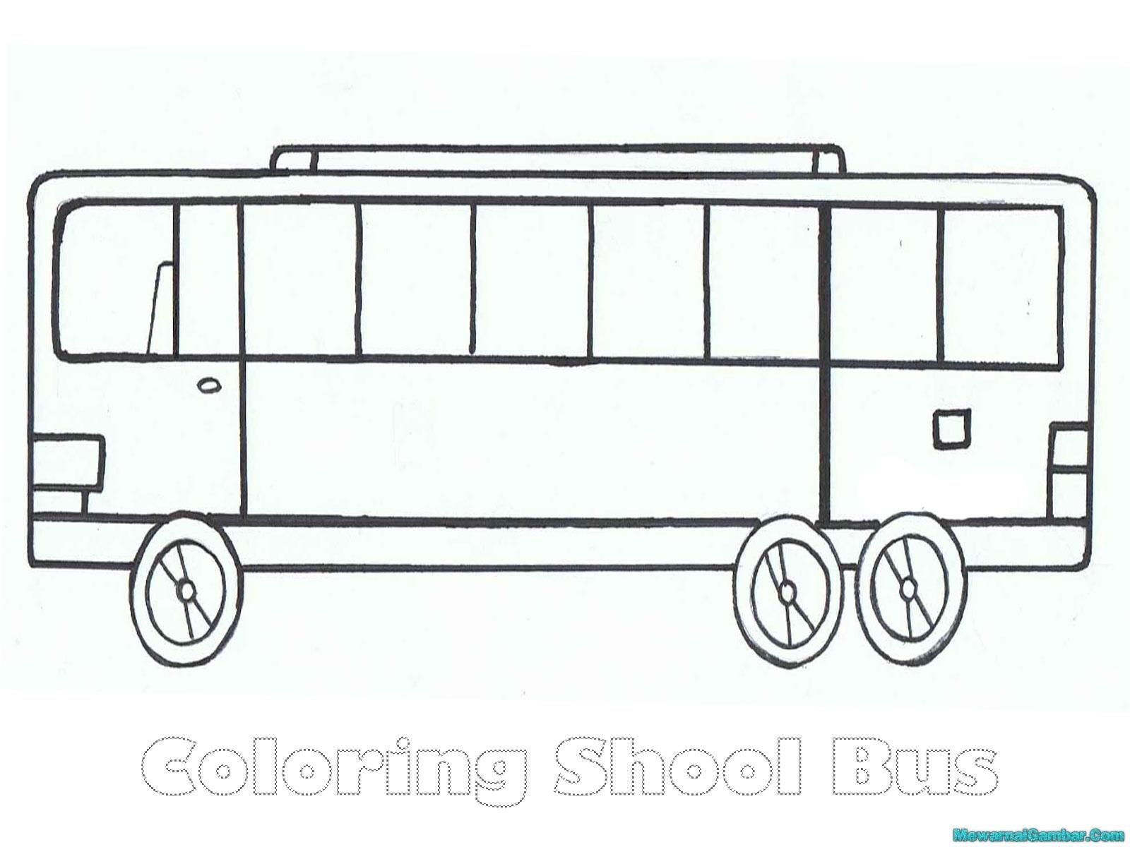 Koleksi Mewarnai Gambar Bus Tingkat