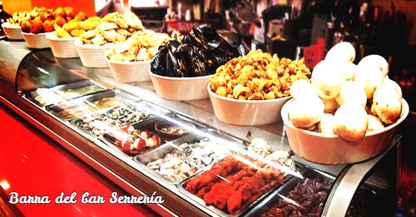 Barra del bar Serrería de Valencia