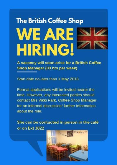 Brunssum Hive Uk British Coffee Shop Manager Vacancy