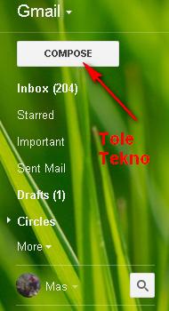 cara mengirim email dengan Google Mail