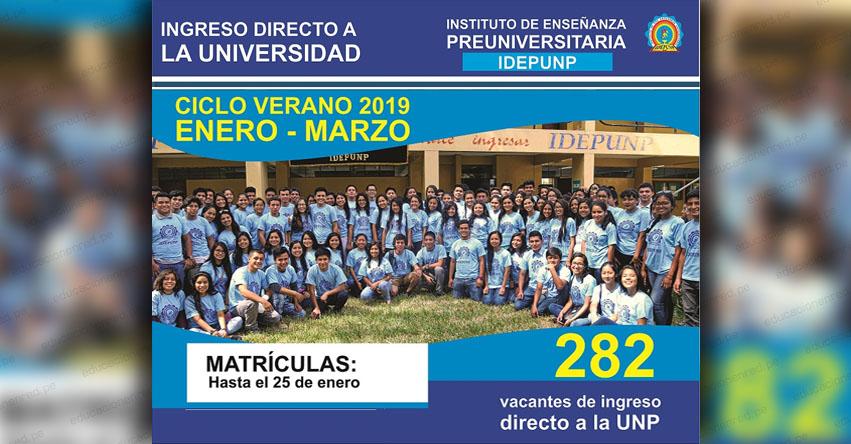 IDEPUNP - ADES: Universidad Nacional de Piura ofrece 282 vacantes en ciclo verano Enero - Marzo 2019 - UNP - www.unp.edu.pe