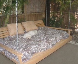Cypress Porch SWING BED
