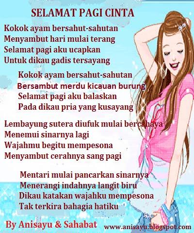 PUISI CINTA BY ANISAYU: Pantun Selamat Pagi Cinta Romantis ...