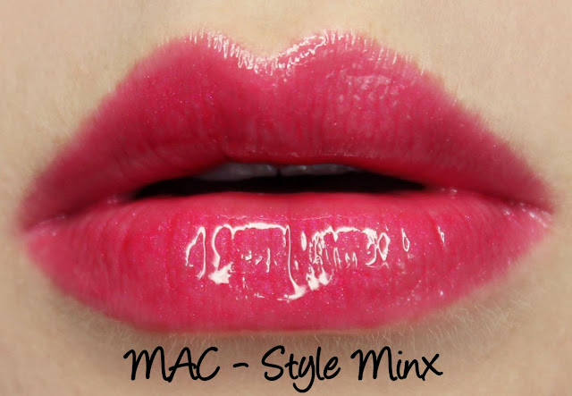 MAC Monday: Heatherette - Style Minx Lipglass Swatches & Review
