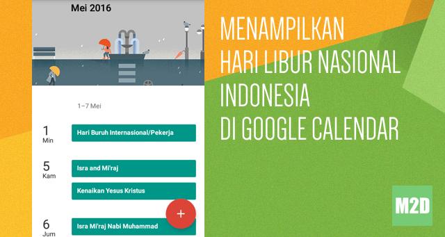 Menambahkan Hari Libur Nasional Indonesia
