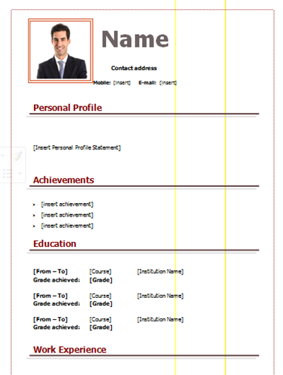 download cv simple form and stylish  u0026gt  editable in word