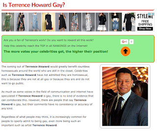 Is Terrence Howard Gay?