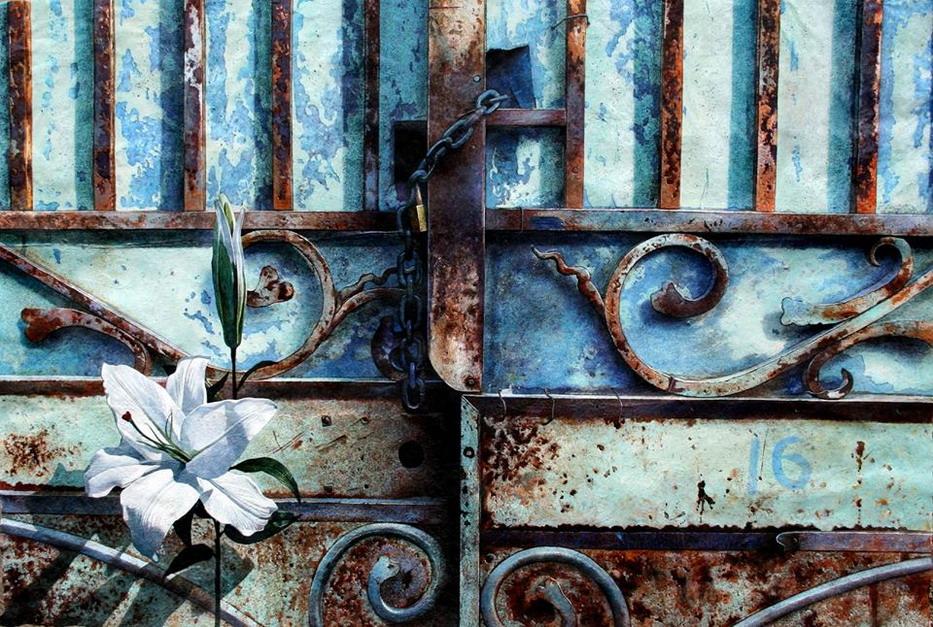 Cuadros modernos pinturas y dibujos cerrojos ventanas y for Pintura para puertas