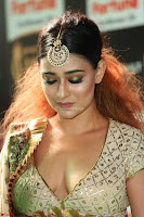 Apoorva Spicy Pics in Cream Deep Neck Choli Ghagra WOW at IIFA Utsavam Awards 2017 31.JPG