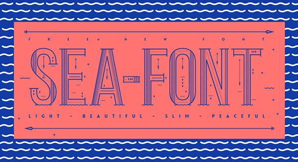 Download Gratis Font Terbaru September 2015 - Sea Free Font