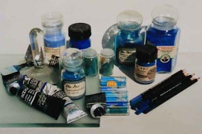 peinture, bleu, couleur, technique, pigments, huile polymérisée, lin, peinture à l huile, talens, blockx, maimeri, isaro, oud holland