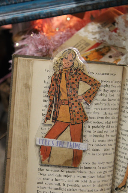 vintage pattern girl used for book mark