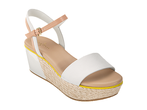 38c3947e40a9 I m loving the cut-out detail. Could pair it with a flouncy floral skirt or  skinny jeans. (Mia Quincy Wedge Sandal