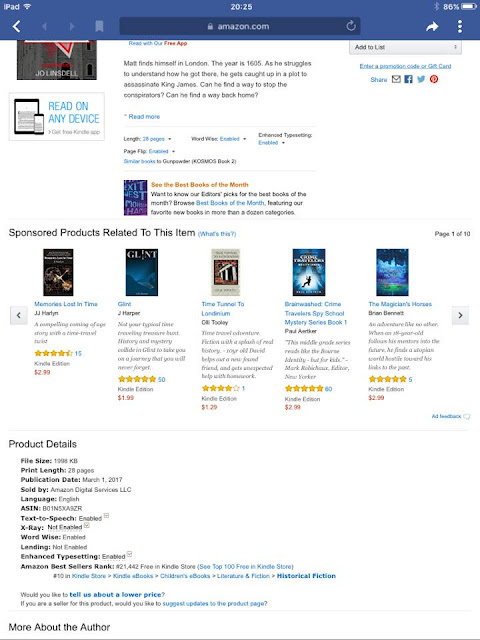 亚马逊上的畅销书。Jo Linsdell的《火药》(KOSMOS第二集)#book#preten18luck网站