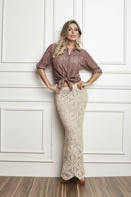 Patrón #1844: Falda a Crochet