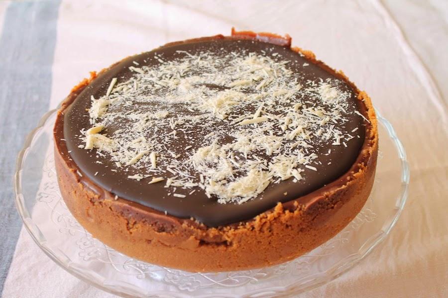 Cheesecake chocolate_Receta cheesecake chocolate_Receta ganache chocolate