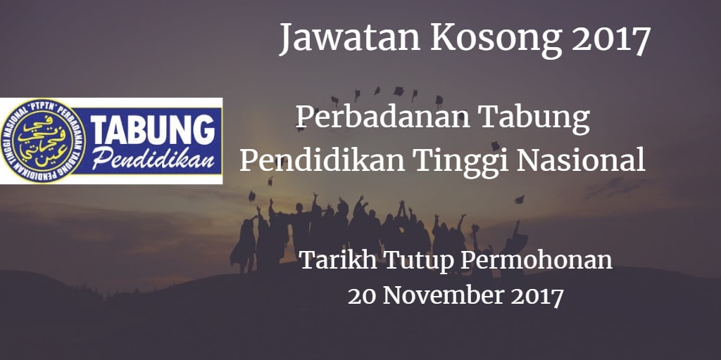 Jawatan Kosong PTPTN 20 November 2017