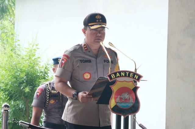 Kapolda Banten Irjen Pol Drs Tomsi Tohir Msi, Pimpin Upacara Peringati HPSN